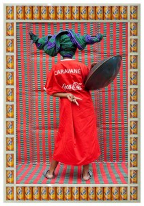 Hassan-Hajjaj-Caravane-2011-Metallic-lambda-print-on-dibond-with-wood-found-objects-frame-136x93cm
