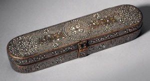 Pen box, dated  1300, Northwester Iran. Aga Khan Museum (AKM609)