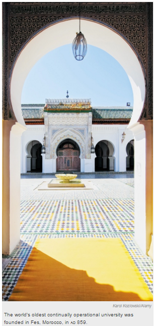 Nature cites inspiring example of Aga Khan University - Institutions - Revive universities of the Muslim world - The world's oldest continually operational university was founded in Fes, Moroccoin 859