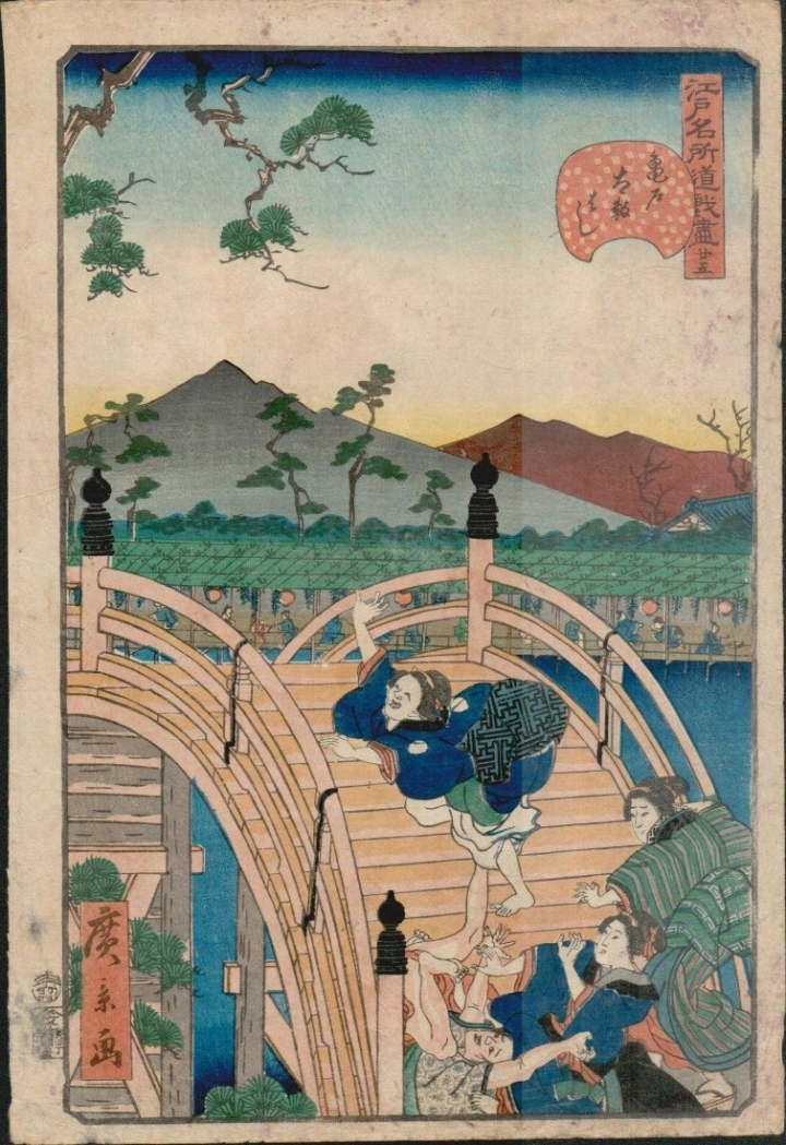 utagawa-hirokage-people-falling-on-bridge-720x1049