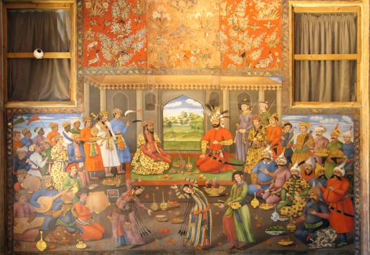 shah-tahmasp-i-and-mughal-emperor-humayun-meet-mural-chehel-sotoun-palace-isfahan